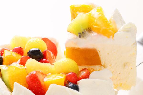 さっぱりレアチーズとマンゴーのアイスケーキ 4号 12cmの画像3枚目