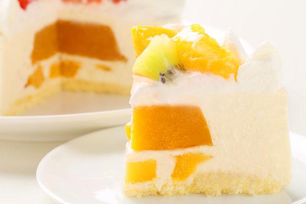 さっぱりレアチーズとマンゴーのアイスケーキ 4号 12cmの画像5枚目