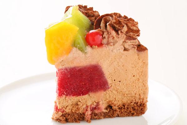 たっぷりフルーツとチョコレートのアイスケー キ 4号 12cmの画像4枚目