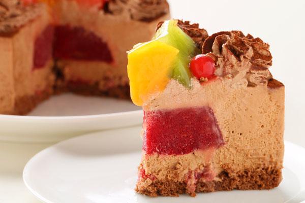 たっぷりフルーツとチョコレートのアイスケー キ 4号 12cmの画像5枚目