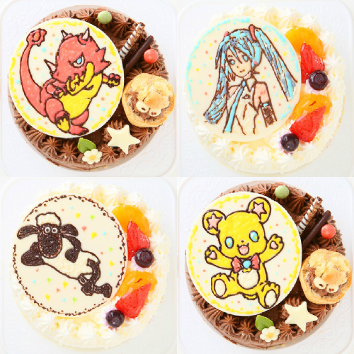 1日限定2台!キャラクタープレートケーキ 4号 12cm