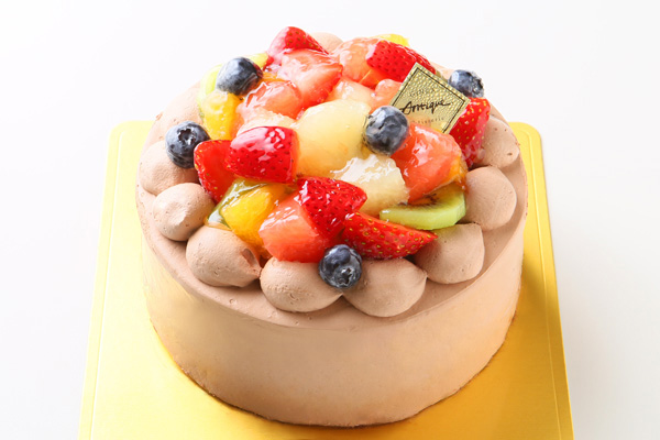 フルーツ生チョコデコレーションケーキ 4号 12cmの画像1枚目