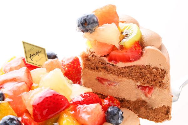 フルーツ生チョコデコレーションケーキ 4号 12cmの画像3枚目