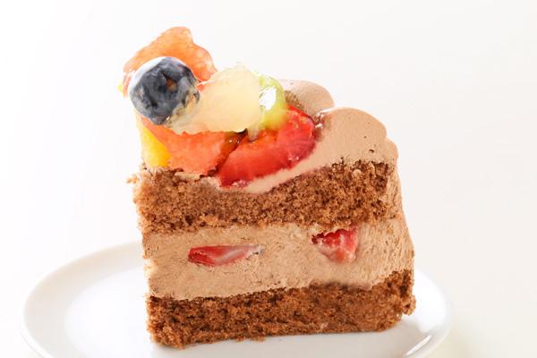 フルーツ生チョコデコレーションケーキ 4号 12cmの画像4枚目