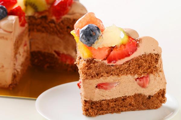 フルーツ生チョコデコレーションケーキ 4号 12cmの画像5枚目