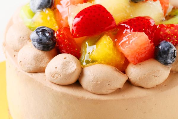 フルーツ生チョコデコレーションケーキ 4号 12cmの画像6枚目