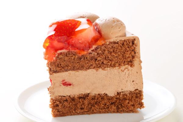 生チョコ苺盛りデコレーションケーキ 4号 12cmの画像4枚目