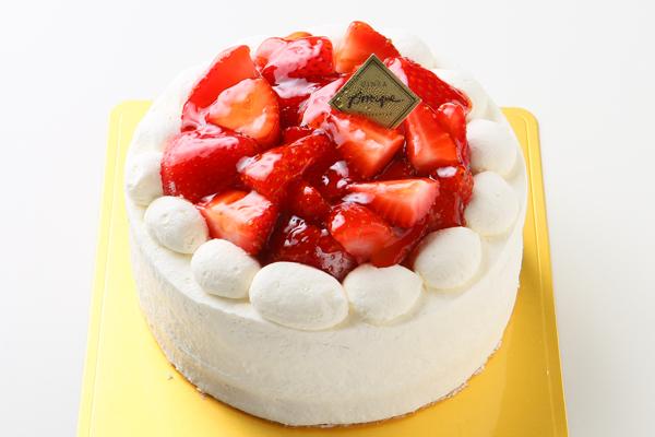 苺盛りデコレーションケーキ 4号 12cm