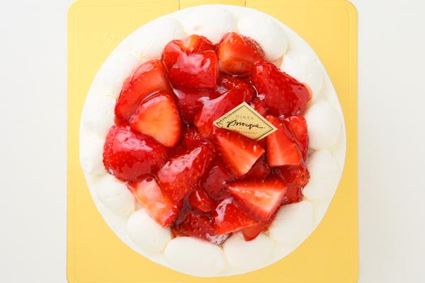 苺盛りデコレーションケーキ 4号 12cmの画像2枚目