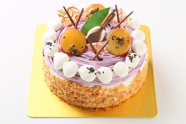 季節限定 特選 紫芋のモンブラン 4号 12cmの画像1枚目