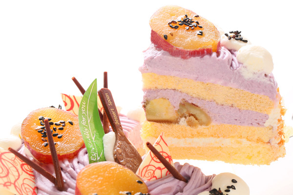季節限定 特選 紫芋のモンブラン 4号 12cmの画像3枚目