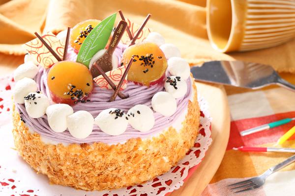 季節限定 特選 紫芋のモンブラン 4号 12cmの画像6枚目