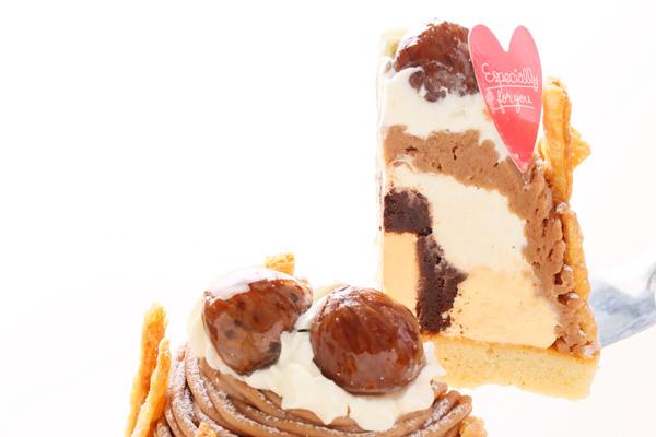 秋にぴったりのケーキ☆モンブラン 4号 12cmの画像3枚目