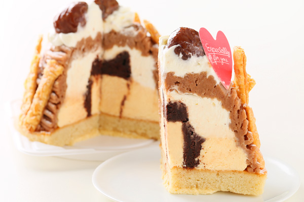 秋にぴったりのケーキ☆モンブラン 4号 12cmの画像5枚目
