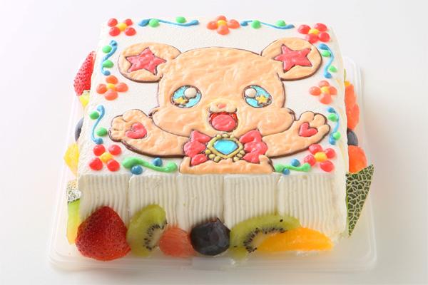 イラスト1体のみ イラストデコレーションケーキスクエア型 5号 15cmの画像2枚目