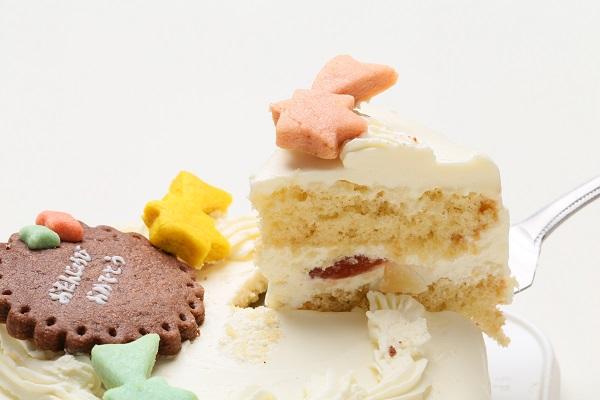 卵・乳製品除去可能 乗り物クッキーのデコレーションケーキ(ホワイト)☆国産小麦粉と安心材料 4号 12cmの画像6枚目