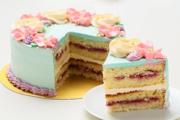 フラワーバタークリームデコレーションケーキ 5号 15cmの画像5枚目