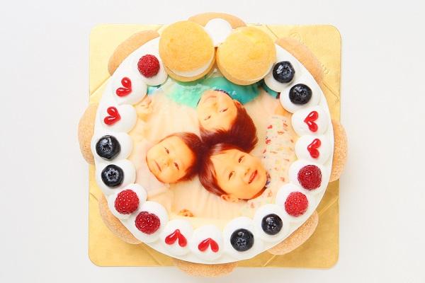 オーダーメード写真ケーキ(生クリーム)15cm(3〜4人用)(1021)