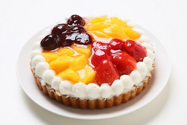 4種のフルーツタルト いちご・オレンジ・ダークチェリー・マンゴー 4号 12cm