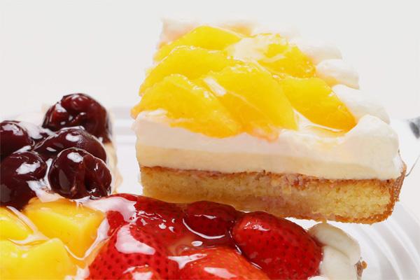 4種のフルーツタルト いちご・オレンジ・ダークチェリー・マンゴー 4号 12cmの画像3枚目