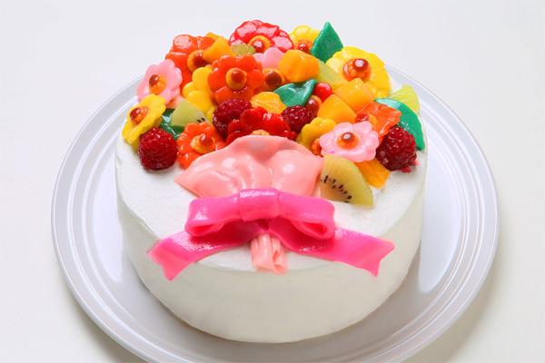 乳製品・小麦粉除去 花束フルーツのデコレーション 豆乳クリーム 4号 12cm