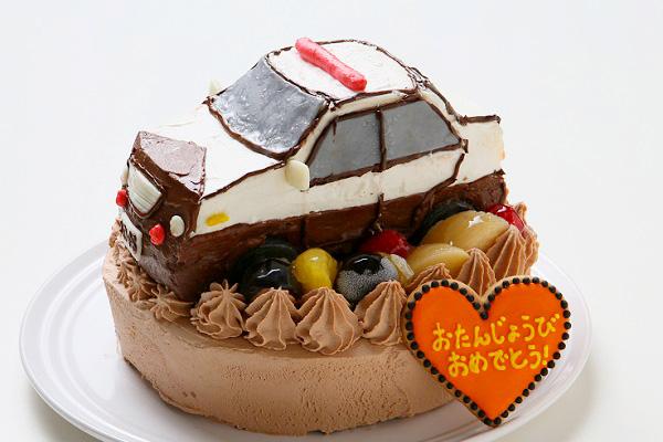 土台あり立体乗り物ケーキ 5号 15cmの画像3枚目