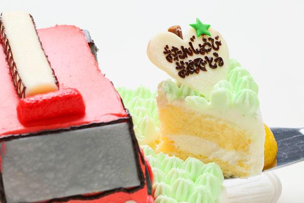 土台あり立体乗り物ケーキ 5号 15cmの画像6枚目