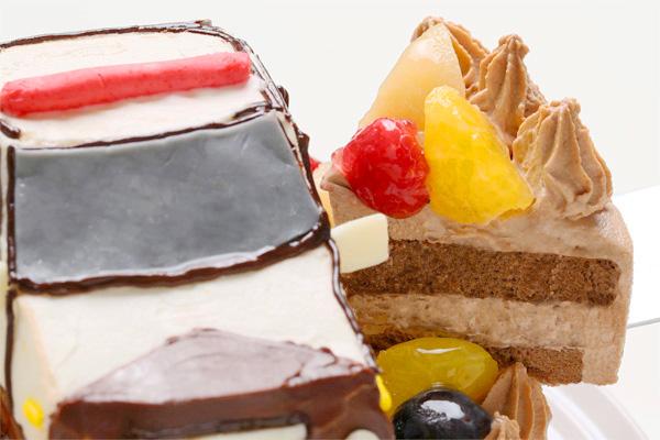 土台あり立体乗り物ケーキ 5号 15cmの画像9枚目
