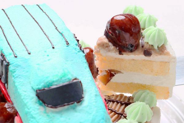 土台あり立体乗り物ケーキ 5号 15cmの画像12枚目