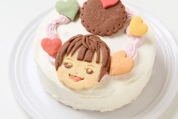 卵・乳製品除去 似顔絵クッキーのデコレーションケーキ 4号 12cmの画像13枚目