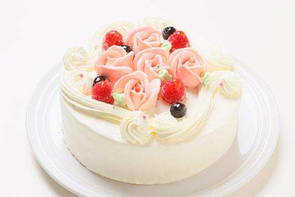バラのショートケーキ4号