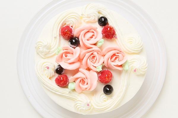 バラのショートケーキ 4号 12cmの画像2枚目