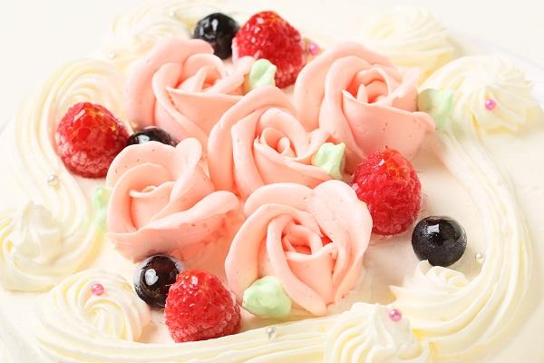 バラのショートケーキ 4号 12cmの画像6枚目