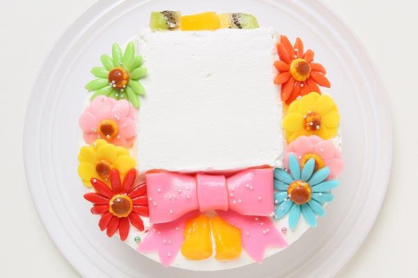 ファーストバースデーフォトケーキ 豆乳クリーム 4号 12cmの画像3枚目