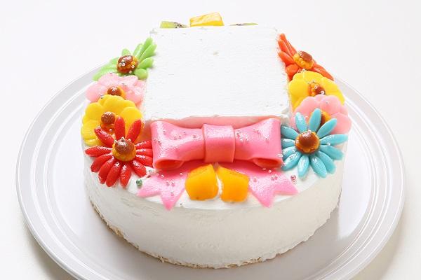 ファーストバースデーフォトケーキ 豆乳クリーム 4号 12cmの画像4枚目