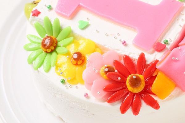 乳製品除去 デコもり。Happy 1st birthdaycake 豆乳クリーム 4号 12cmの画像8枚目