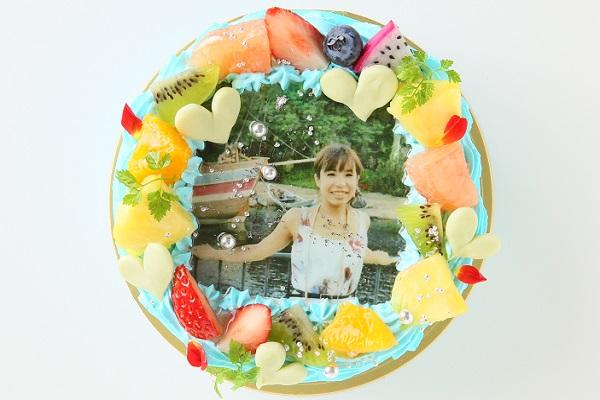 写りが綺麗な写真ケーキ 5号 15cm