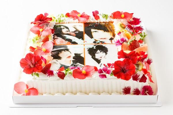 【東京首都圏のみ 直接冷蔵配送】エディブルフラワー大型写真ケーキ 30×30cm