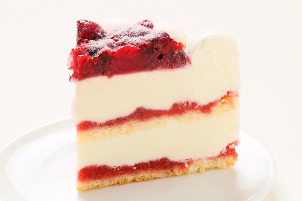 ストロベリーアイスケーキ ミックスベリージャムといちごミルクジェラート添え 4.5号 直径約15cm×高さ約5.5cmの画像4枚目