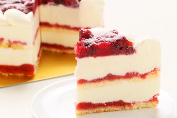 ストロベリーアイスケーキ ミックスベリージャムといちごミルクジェラート添え 4.5号 直径約15cm×高さ約5.5cmの画像5枚目