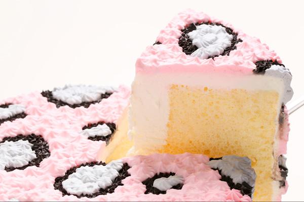 アニマルデコ ピンクヒョウ柄 6号 18cmの画像3枚目