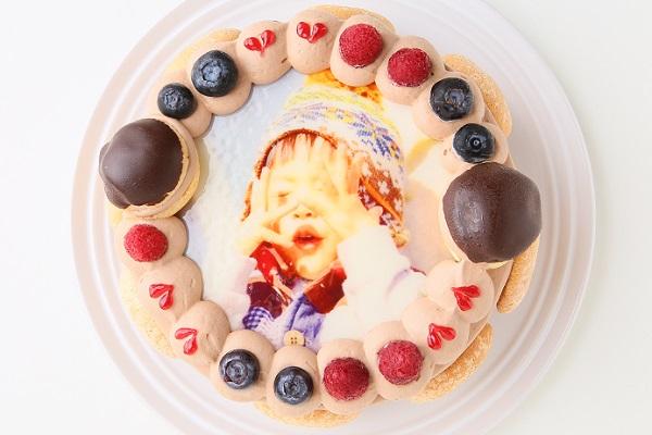 オーダーメード写真ケーキ(チョコクリーム)15cm(3〜4人用)(1027)の画像2枚目