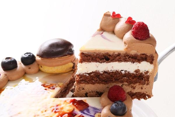 オーダーメード写真ケーキ(チョコクリーム)15cm(3〜4人用)(1027)の画像3枚目