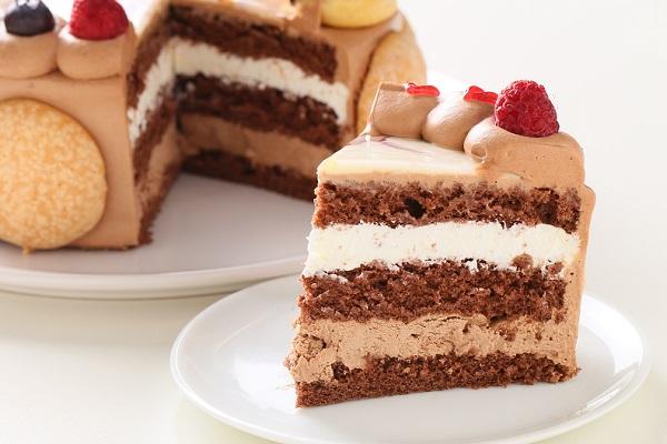 オーダーメード写真ケーキ(チョコクリーム)15cm(3〜4人用)(1027)の画像5枚目