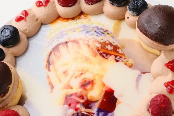 オーダーメード写真ケーキ(チョコクリーム)15cm(3〜4人用)(1027)の画像6枚目