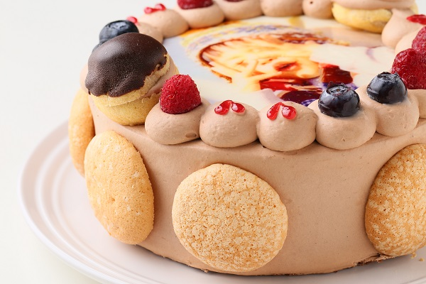 オーダーメード写真ケーキ(チョコクリーム)15cm(3〜4人用)(1027)の画像7枚目