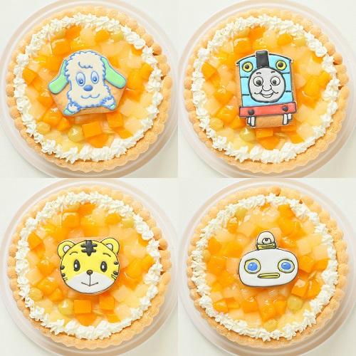 キャラアイシングクッキー添え ファーストバースデーキャラクターフルーツデコレーション 4号 12cm