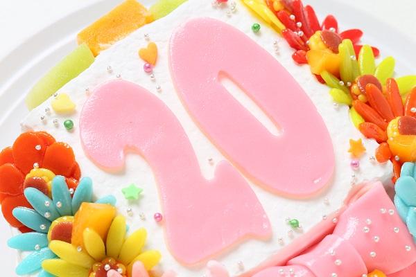 小麦粉除去 デコもり。Happy Number birthdaycake 4号 12cmの画像6枚目