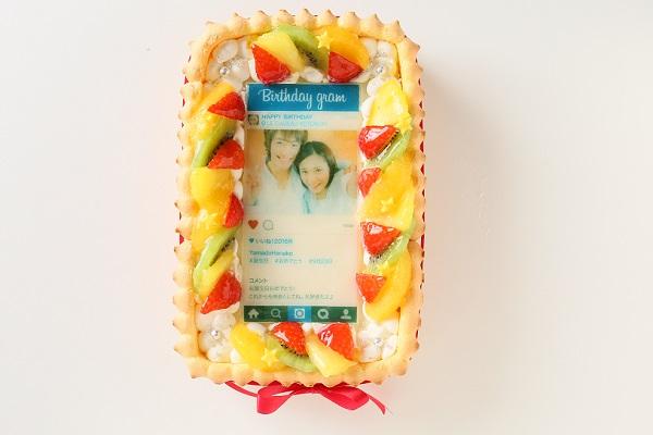 インスタグラム風フレームの写真ケーキ 23cm×15cm×6cm