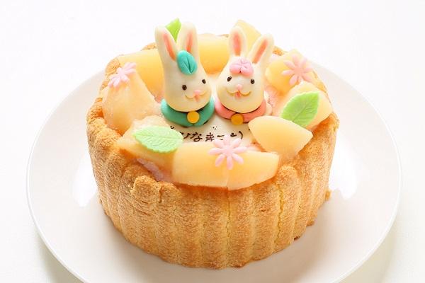 初節句におすすめな乳幼児ヨーグルトケーキ 4号 12cm ひなまつり限定の画像1枚目
